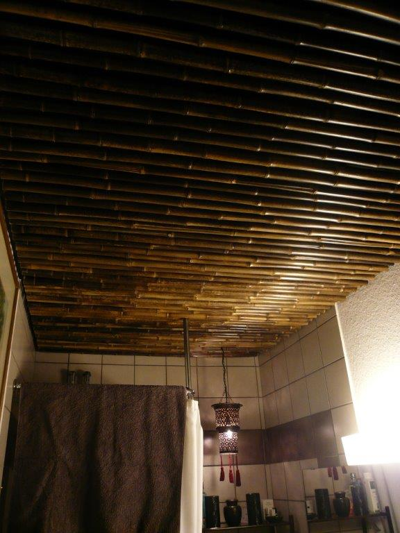 Nigra Bambusstangen braun-schwarz dekorative Deckenmontage Bambus-Webshop CONBAM