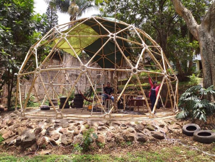 Geodesic Bamboo Dome in Kenya 20190910_120047