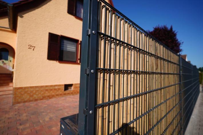 Bambus Sichtschutz Doppelstabmatte Zaun