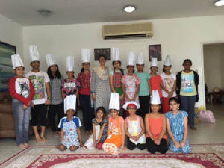 Nayana with her students