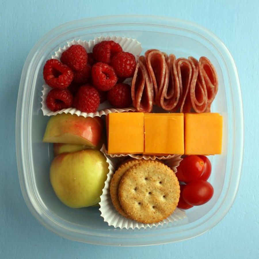 Fill your snack box with healthy stuffs.