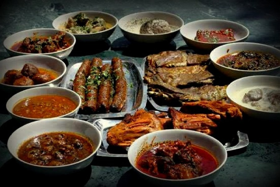 The different Wazwan meals provided in various Kashmiri Food Joints