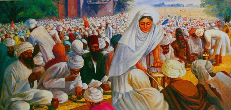 The Sikh Langar tradition practiced before