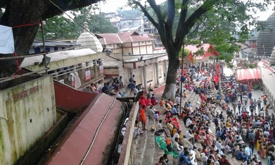 Devotees throng the Kamakhya Temple