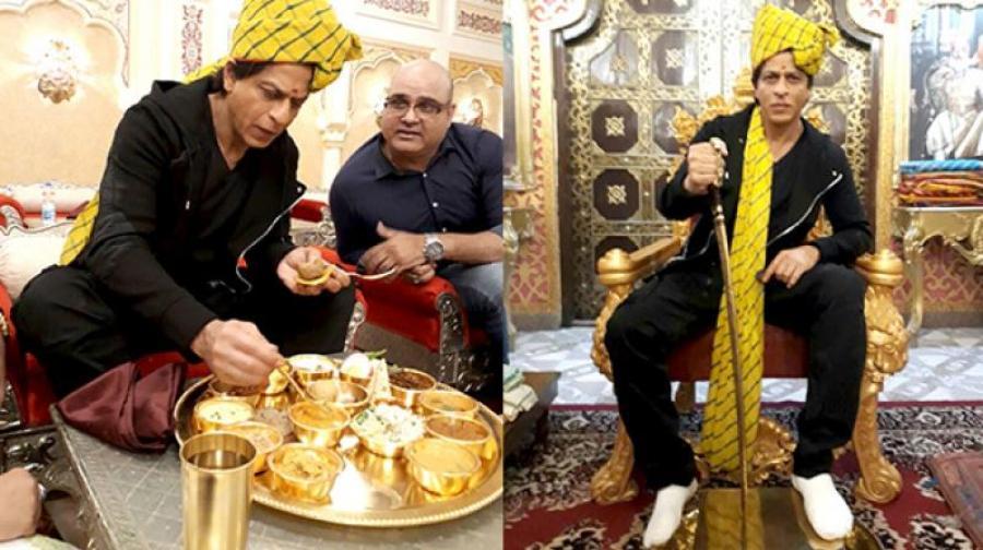 SRK having daal baati churma