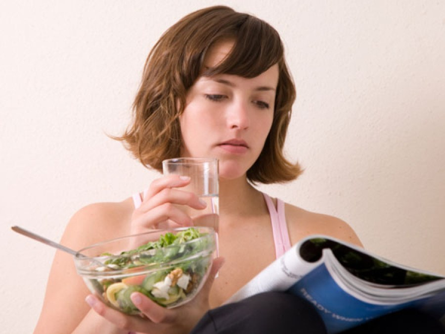 Do not drink water while having food.
