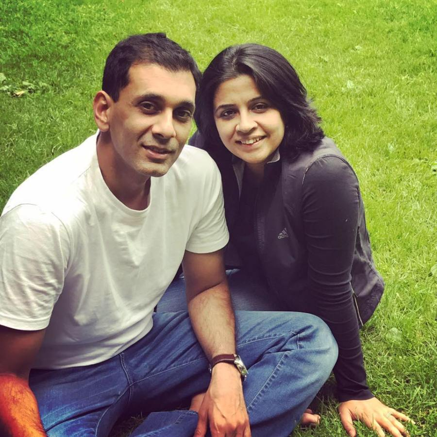 Ruchita with her husband, Manish