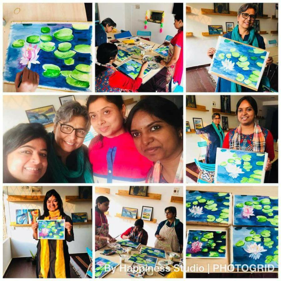 A recently held watercolour workshop