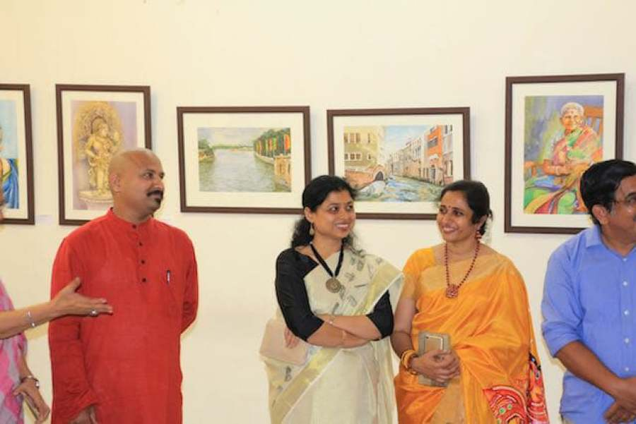 At an exhibition