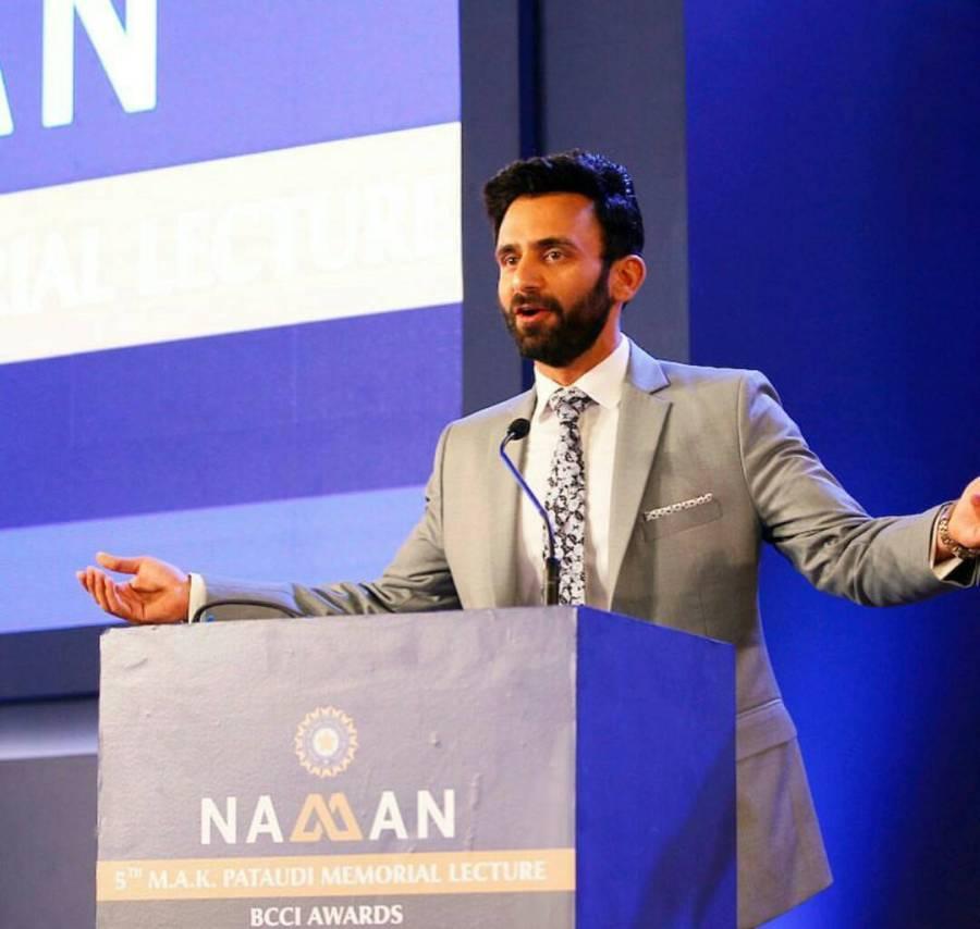 Jatin, the anchor, at BCCI awards