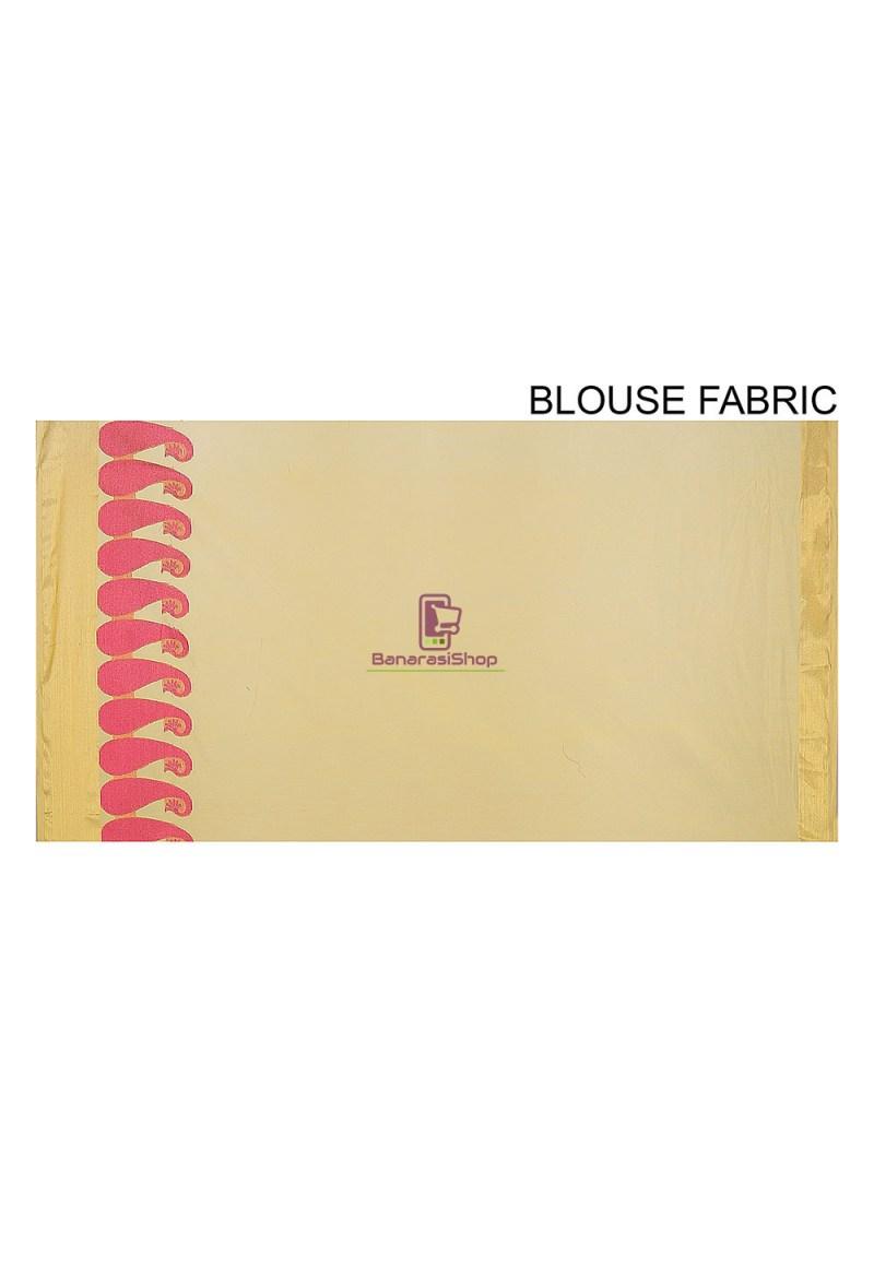 Woven Banarasi Chanderi Cotton Saree in Yellow 4