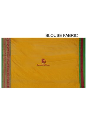 Banarasi Pure Katan Silk Handloom Saree in Yellow 9