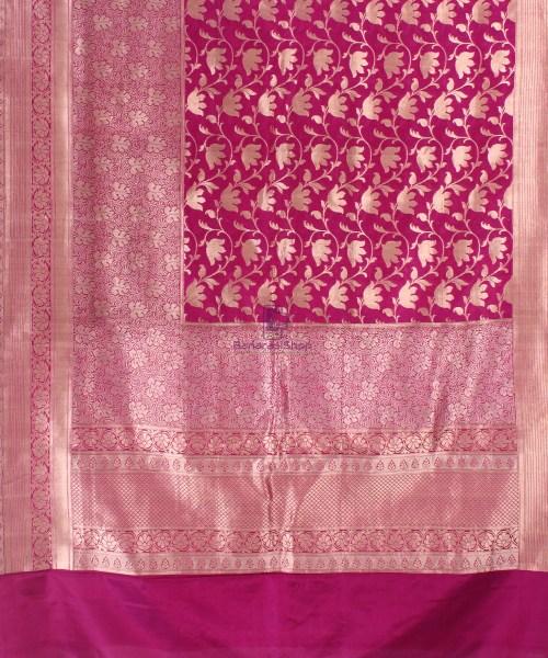 Pure Banarasi Uppada Handloom Silk Saree in Purple 5