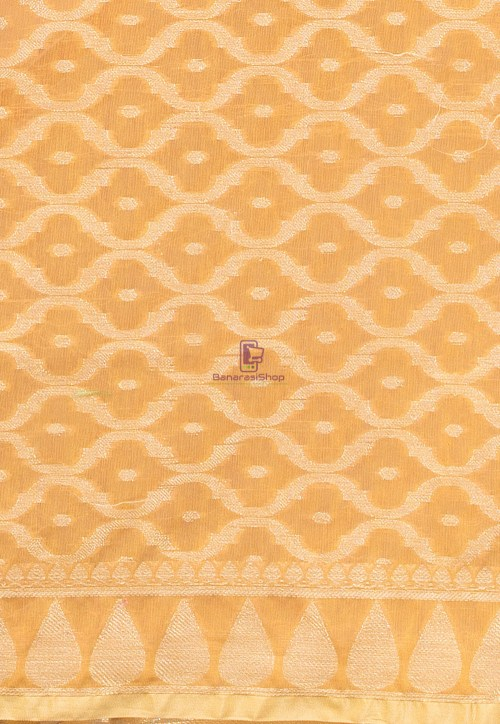 Banarasi Cotton Silk Dupatta in Mustard 3