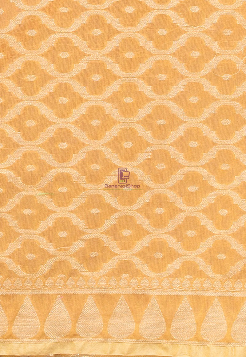 Banarasi Cotton Silk Dupatta in Mustard 2