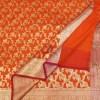Woven Banarasi Art Silk Dupatta in Orange 6