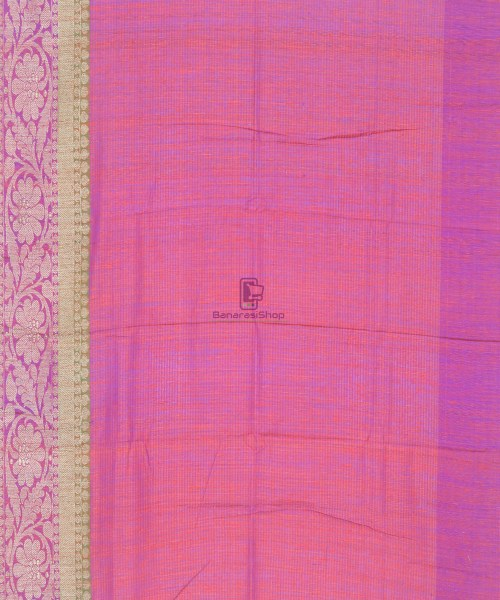 Banarasi Pure Handloom Dupion Silk Saree in Strawberry Red 7