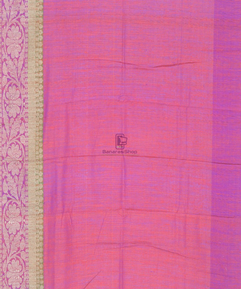 Banarasi Pure Handloom Dupion Silk Saree in Strawberry Red 4