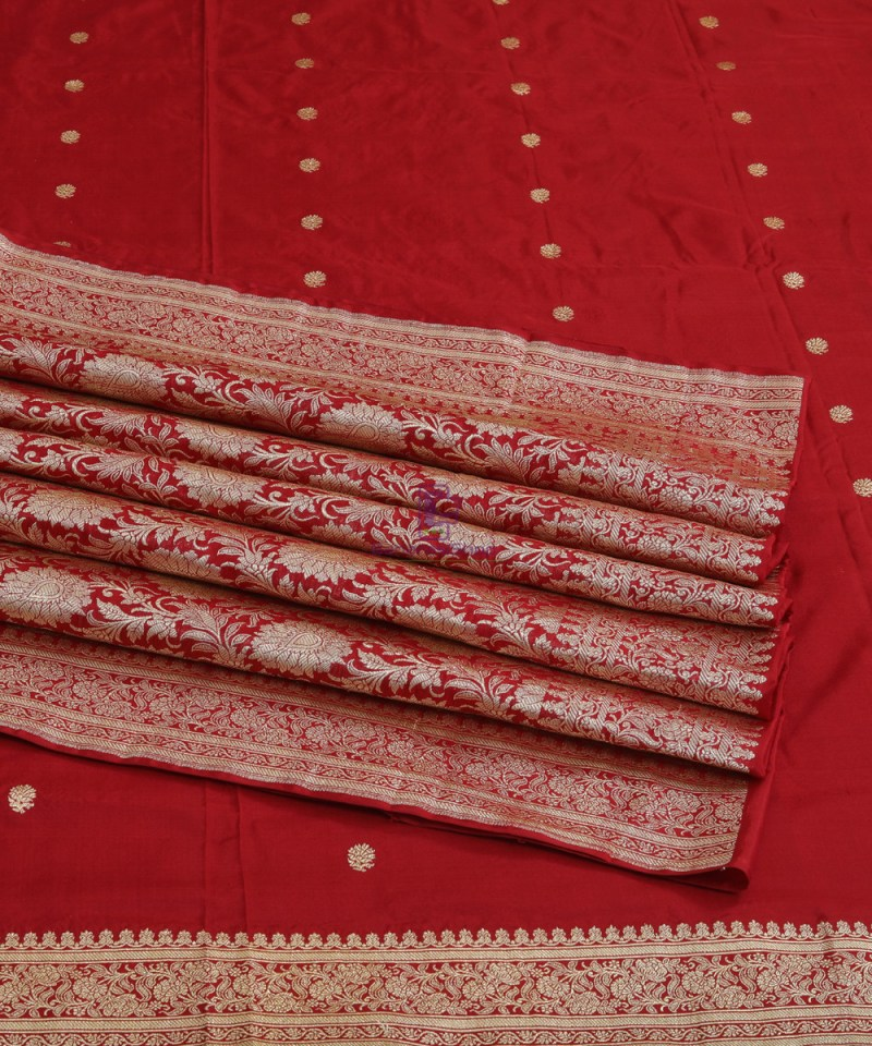 Banarasi Pure Katan Silk Handloom Red Saree 4