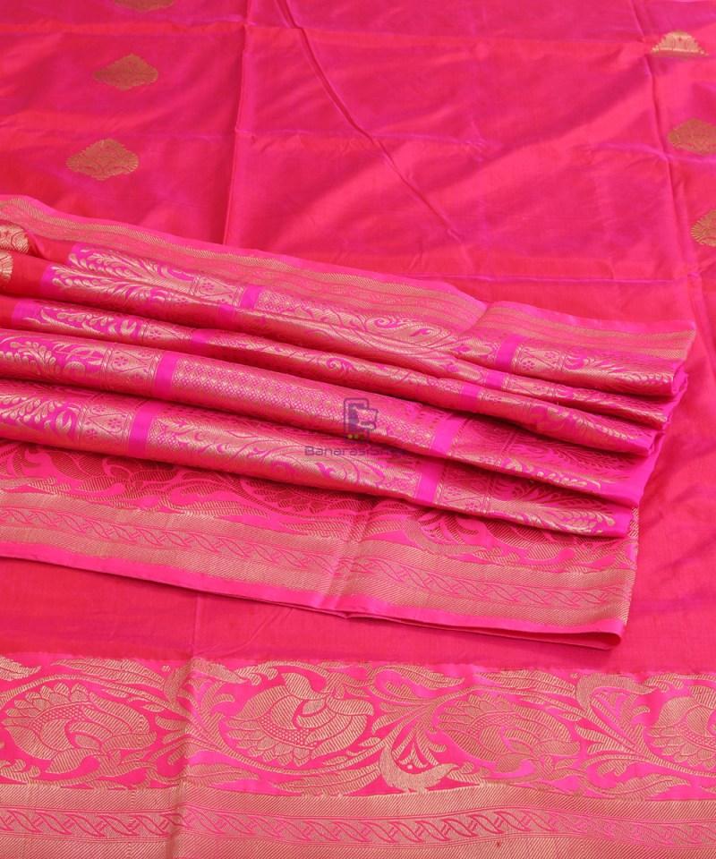 Banarasi Pure Katan Silk Handloom Silk Red Saree 4