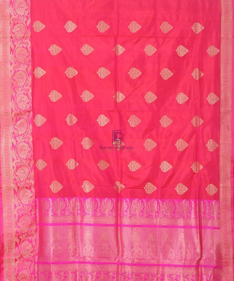 Banarasi Pure Katan Silk Handloom Silk Red Saree 1