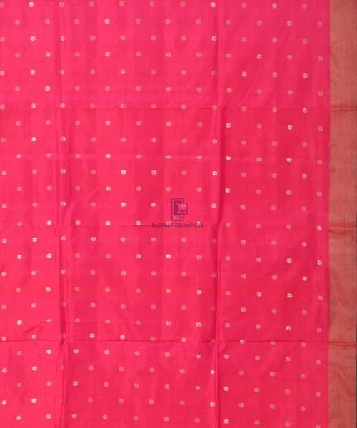 Banarasi Pure Katan Silk Handloom Strawberry Pink Saree 6