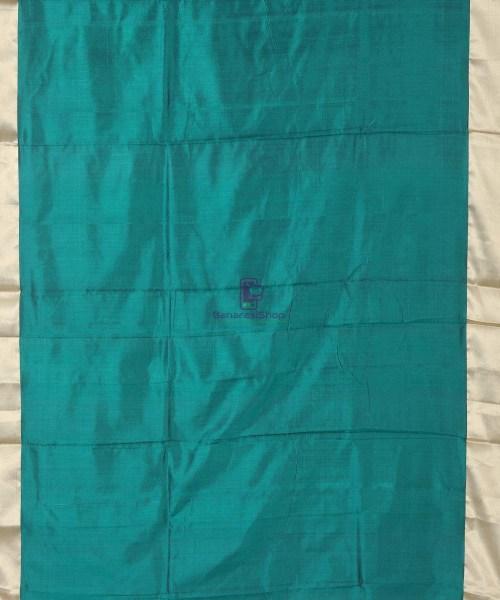 Banarasi Pure Katan Silk Handloom Pine Green Silk Saree 6