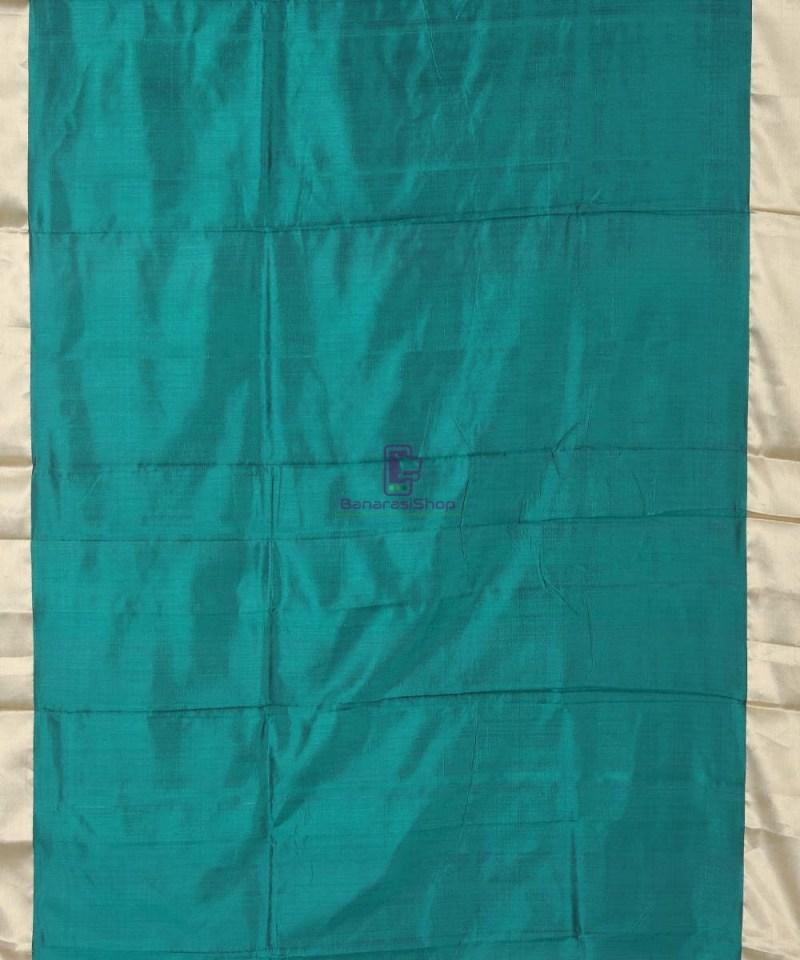 Banarasi Pure Katan Silk Handloom Pine Green Silk Saree 3