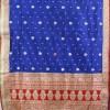 Banarasi Pure Katan Silk Handloom Saree in Pink and Green 7