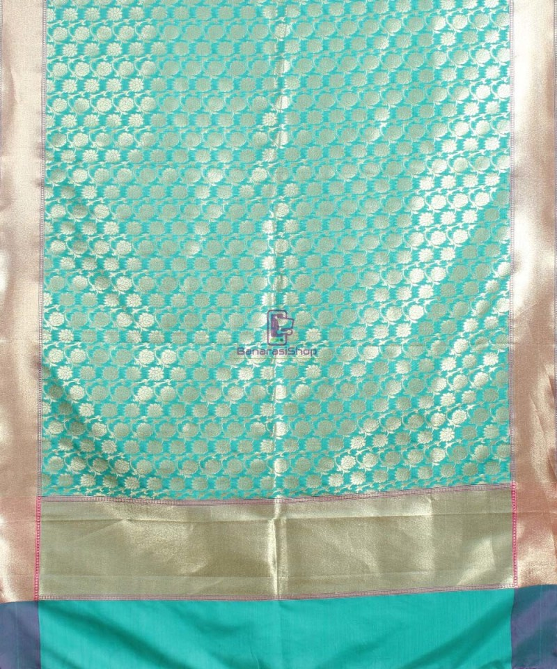 Banarasi Art Silk Green Dupatta 1