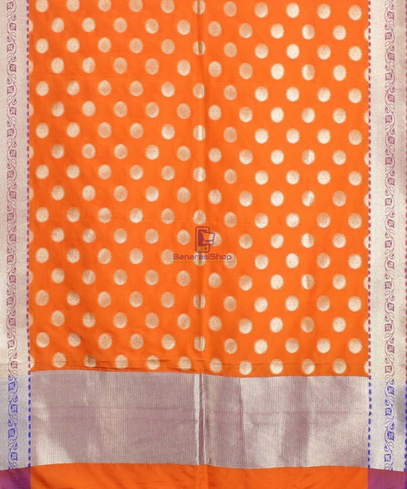 Banarasi Art Silk Orange Dupatta 1