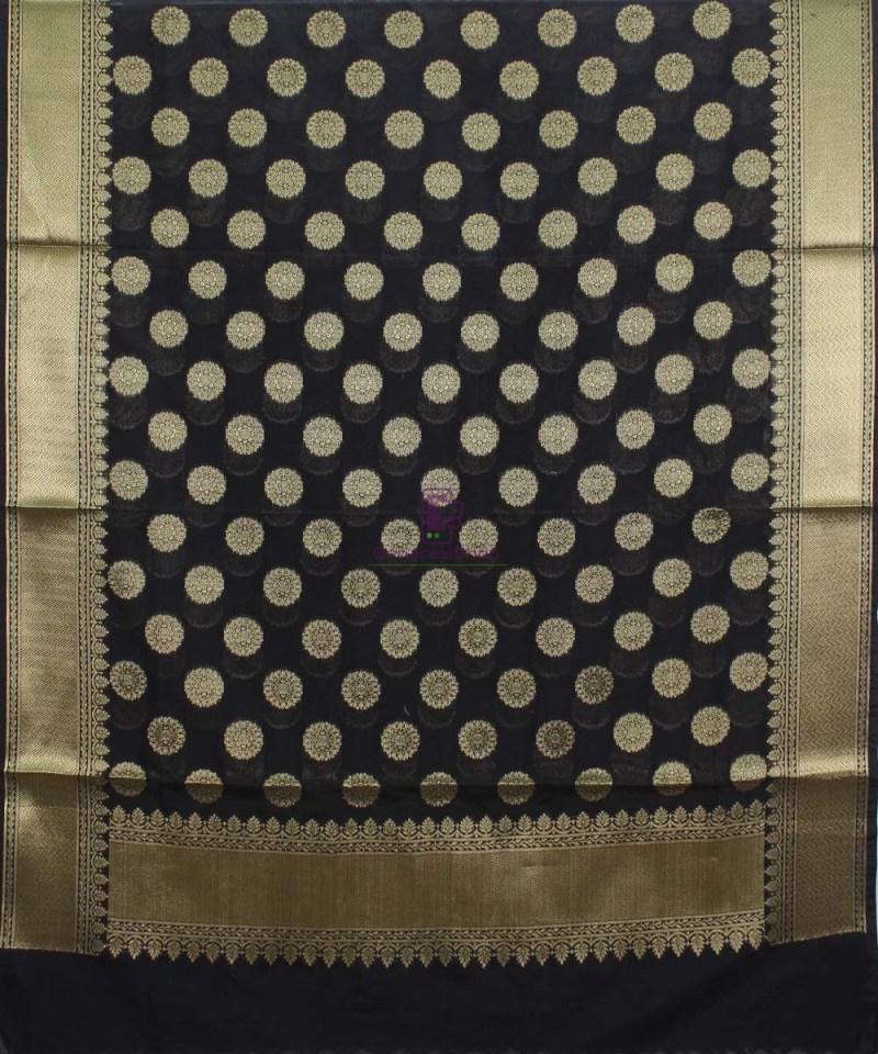 Banarasi Art Silk Black Dupatta 1