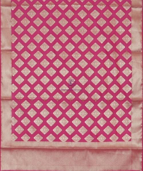 Banarasi Handwoven Magenta Dupatta 5