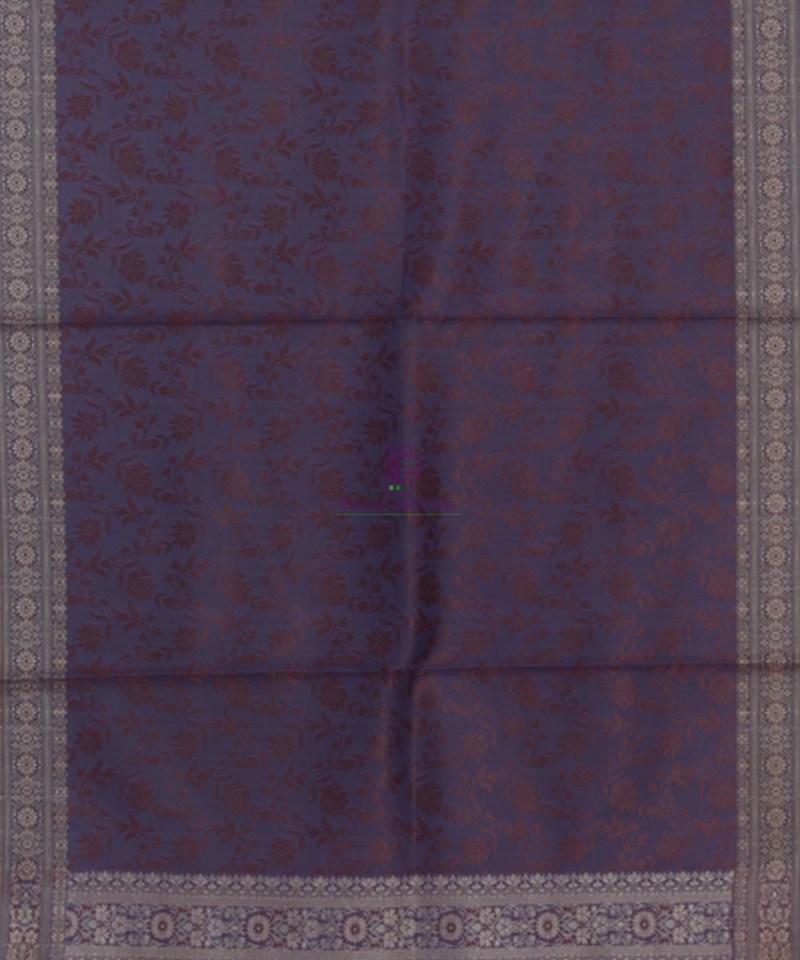 Handloom Banarasi Tanchoi Violet Stole 3