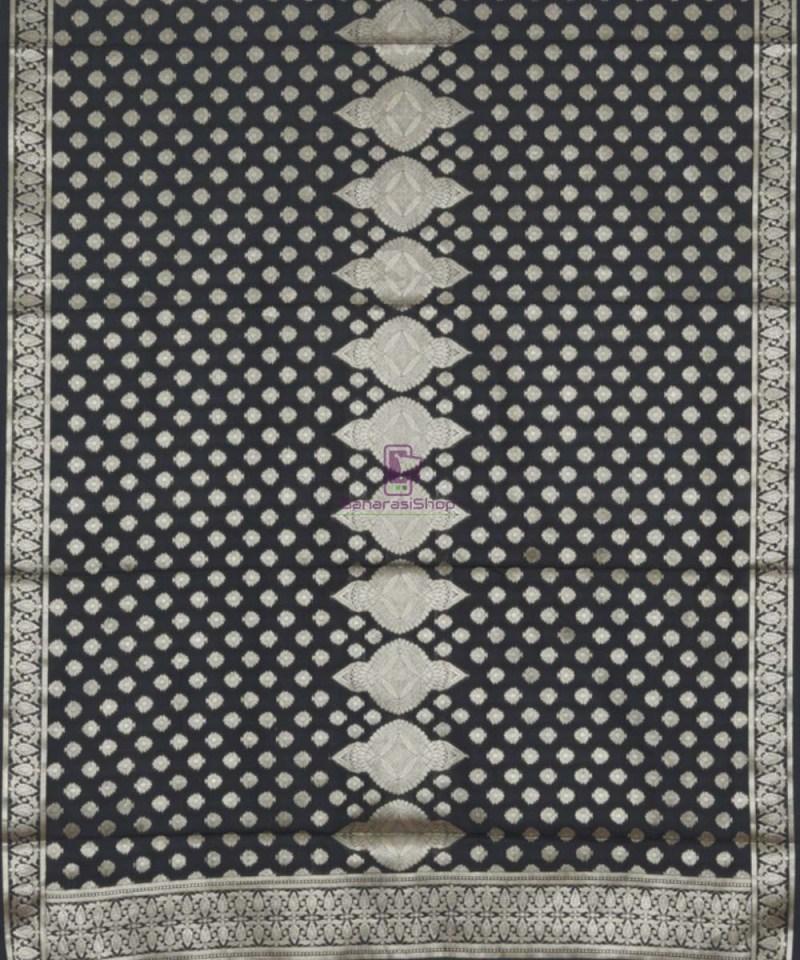 Banarasi Handloom Shadow Black Dupatta 3