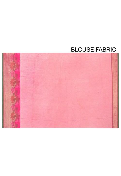 Banarasi Cotton Silk Saree in Light Green 8