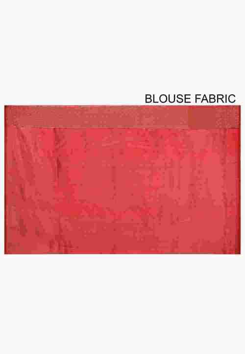 Pure Silk Banarasi Saree in Red 6