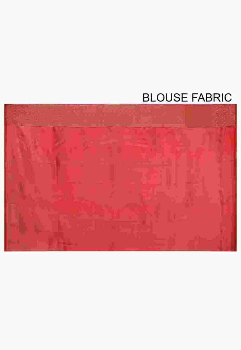 Pure Silk Banarasi Saree in Red 3