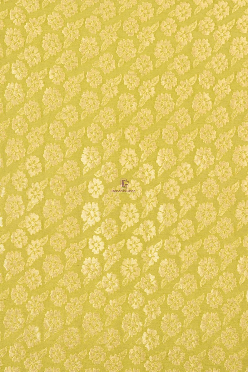 Pure Banarasi Handpainted Muga Silk Handloom Saree in Orange 2