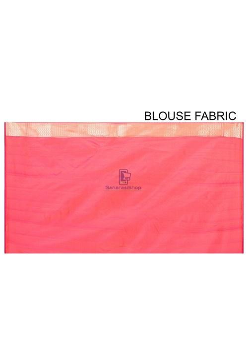 Pure Banarasi Katan Silk Handloom Saree in Fuchsia and Orange Dual Tone 7