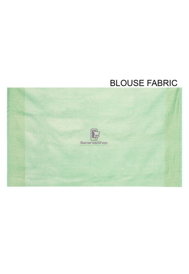 Woven Banarasi Cotton Silk Saree in Pastel Green 3