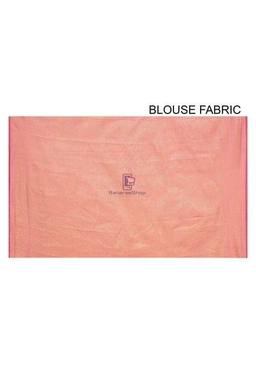 Woven Banarasi Cotton Silk Saree in Pink 6