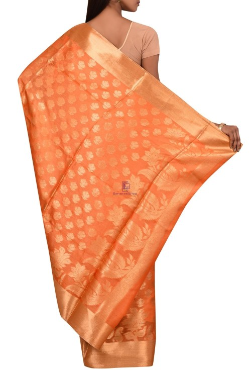 Tussar Silk Saree with Unstitched Blouse Fabric 5