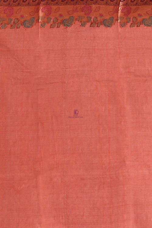Banarasi Pure Tussar Silk Saree with Unstitched Blouse Fabric 7