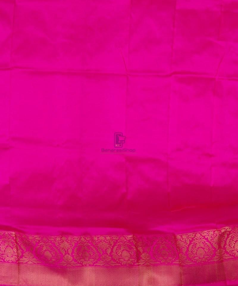 Banarasi Pure Katan Silk Handloom Off White Saree 4