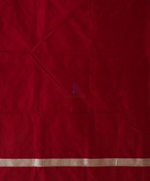 Banarasi Pure Katan Silk Handloom Maroon Saree 7