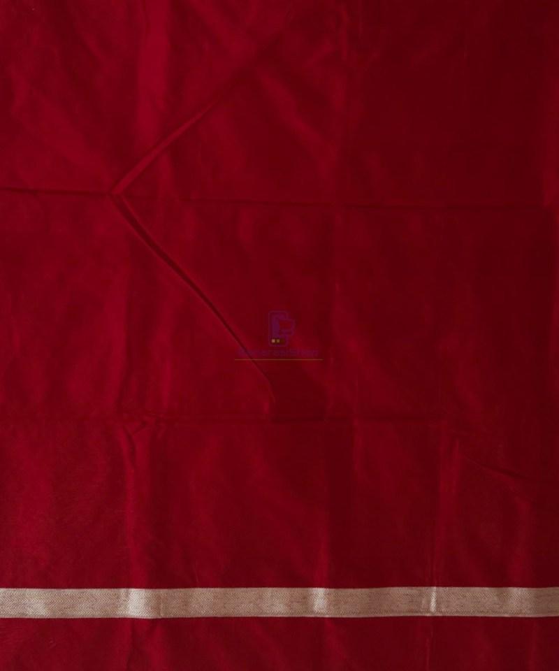 Banarasi Pure Katan Silk Handloom Maroon Saree 4