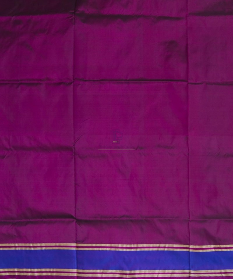 Banarasi Pure Katan Silk Handloom Wine Purple Saree 4
