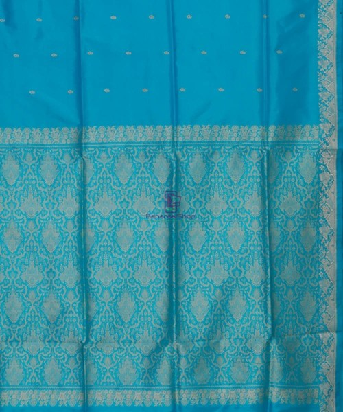 Banarasi Pure Katan Silk Handloom Sky Blue Saree 6