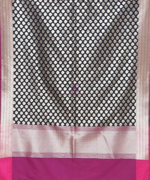 Woven Banarasi Art Silk Dupatta in Black 3